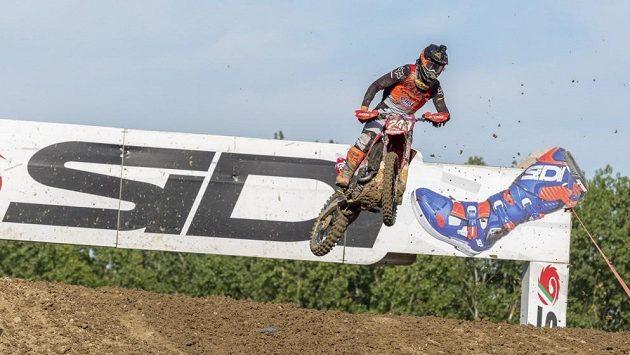 Slovinský motokrosař Tim Gajser při závodu MS v italské Imole.