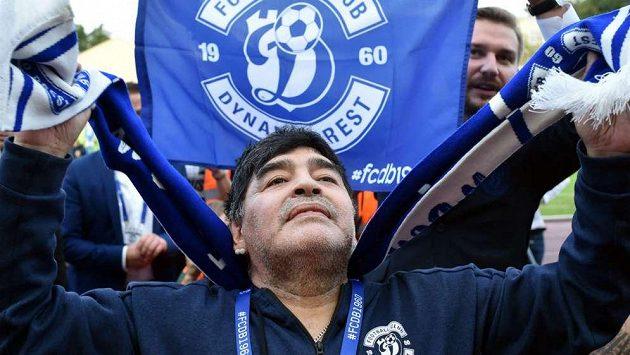 Diego Maradona v době, kdy byl prezidentem běloruského Dynama Brest.