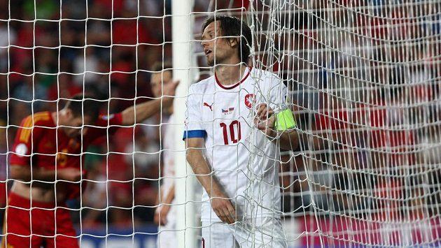 Kapitán české fotbalové reprezentace Tomáš Rosický.
