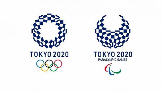 Loga olympiády a paralympiády v Tokiu 2020.