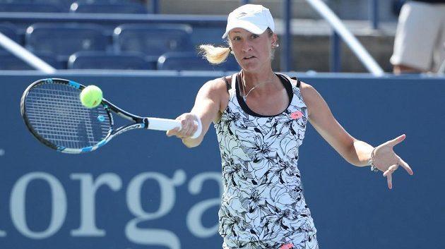Česká tenistka Denisa Allertová v 1. kole US Open.