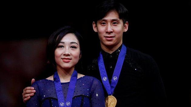 Čínští krasobruslaři Suej Wen-ťing a Chan Cchung jsou opět mistry světa.