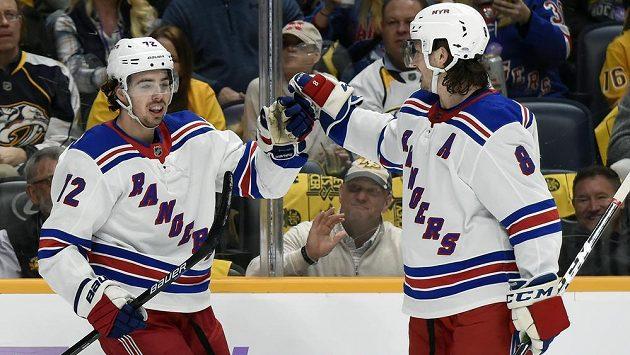 Útočník Filip Chytil (72) dal gól i ve druhém utkání NHL po povolání z farmy do prvního týmu New Yorku Rangers.