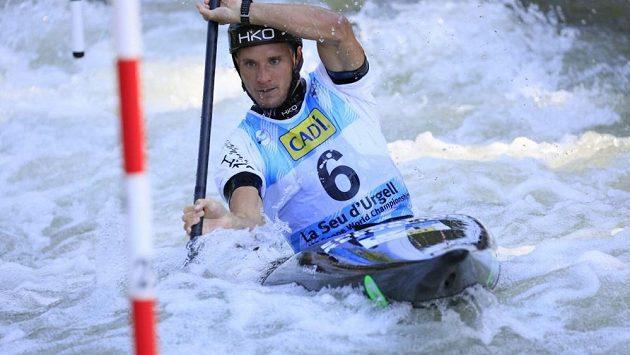 Vít Přindiš na mistrovství světa ve vodním slalomu ve španělském La Seu d´Urgell.