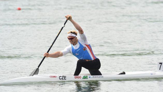 Martin Fuksa při závodě Světového poháru v Račicích.