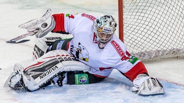 Michael Garnett, kanadský brankář ve službách hokejistů Traktoru Čeljabinsk.