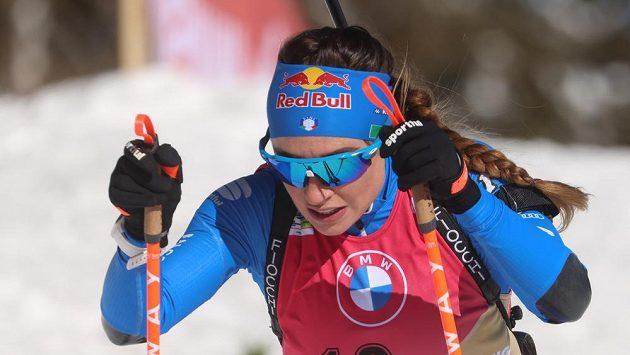 Dorothea Wiererová během indivduálního závodu na 15 km na MS v Pokljuce.
