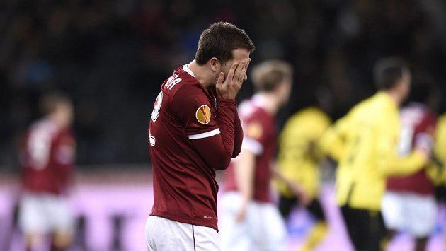Smutný sparťan Josef Hušbauer.