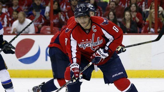 Hokejový útočník Washingtonu Alexandr Ovečkin.