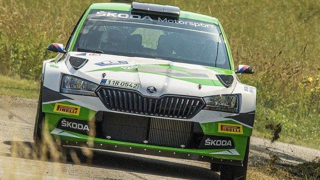 Jan Kopecký a Jan Hloušek na rychlostní zkoušce Rallye Bohemia.