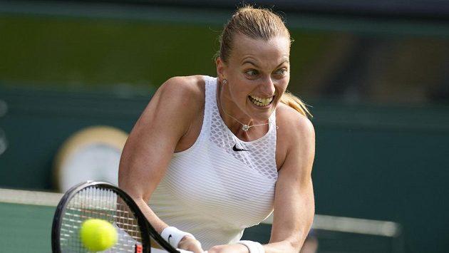 Petra Kvitová v prvním kole Wimbledonu.