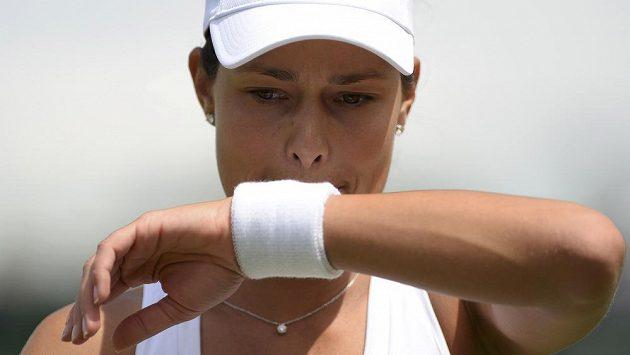 Srbská tenistka Ana Ivanovičová vypadla na letošním Wimbledonu hned v prvním kole.