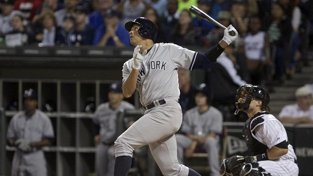 Alex Rodriguez z New York Yankees v utkání proti Chicagu White Sox