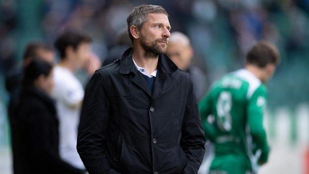 Trenér Bohemians Martin Hašek během utkání nadstavby Fortuna ligy ve skupině o záchranu.