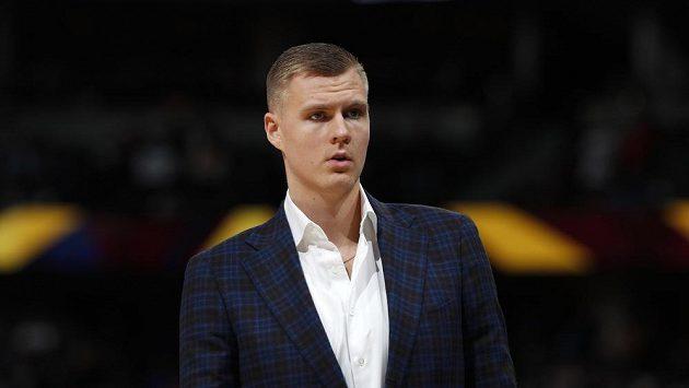Lotyšský basketbalista Kristpas Porzingis.