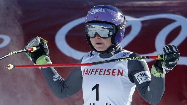Tessa Worleyová z Francie vede po prvním kole obřího slalomu na MS ve Svatém Mořici.