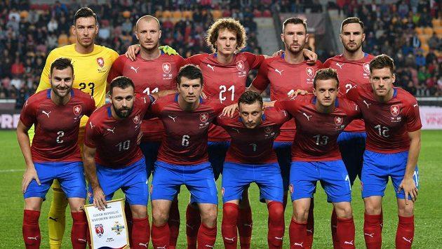 Čeští fotbalisté před utkáním se Severními Iry.