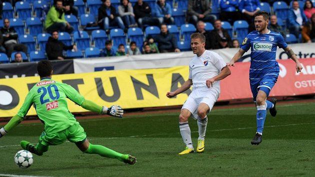 Tomáš Mičola byl střídajícím žolíkem. Vstřelil dva góly a Baník Ostrava na startu jarní části FNL zvítězil nad ústím.