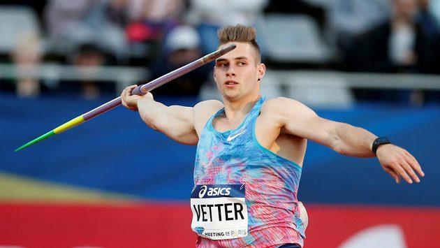Německý oštěpař Johannes Vetter hodil na mítinku v Lucernu 94,44 m a zařadil se na 2. místo historických tabulek za rekordmana Jana Železného (98,48).