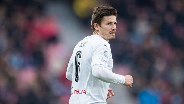 Plzeňský záložník Václav Pilař během utkání na Spartě.