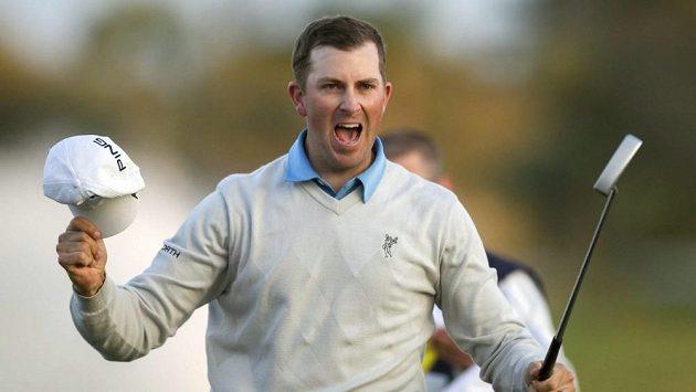 Radost amerického golfisty Michaela Thompsona