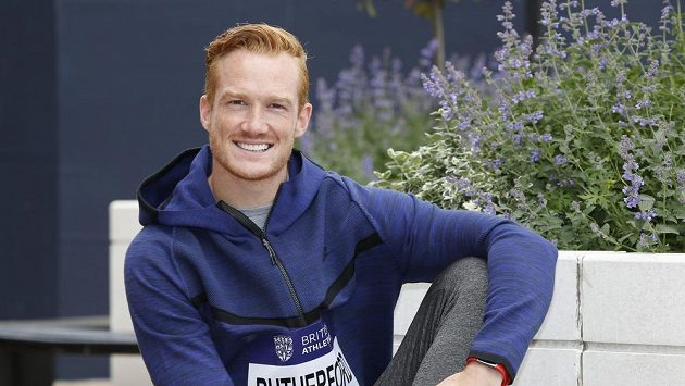 Britský skokan do dálky Greg Rutherford.
