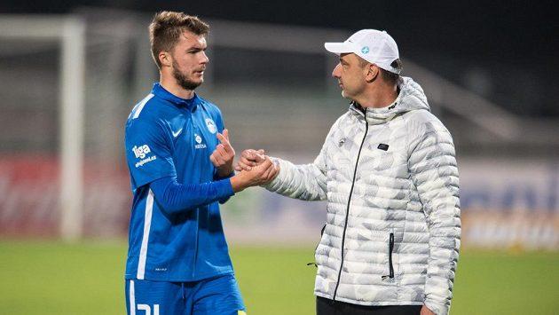 Trenér Slovanu Liberec Jindřich Trpišovský a Nikolaj Komličenko.