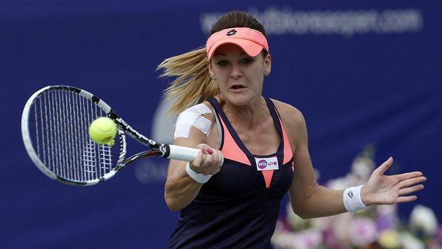 Polská tenistka Agnieszka Radwaňská na turnaji v Soulu.