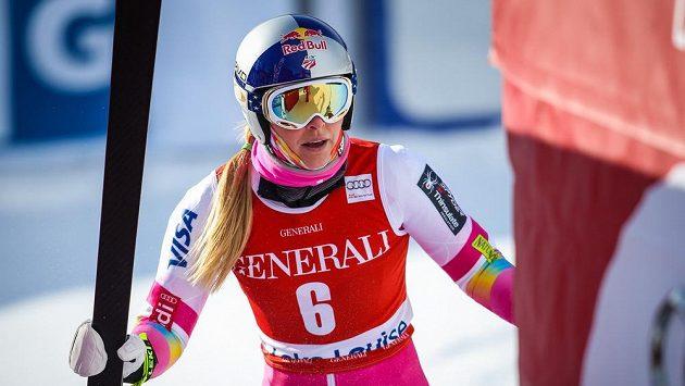 Lindsey Vonnová po tréninku v Lake Louise.