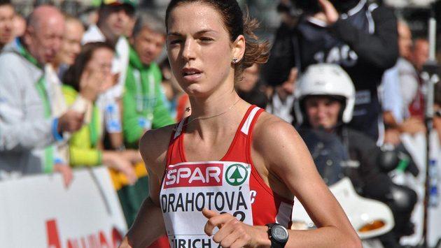 Anežka Drahotová (na snímku) získala na ME v Curychu v závodu na 20 km chůze bronz.