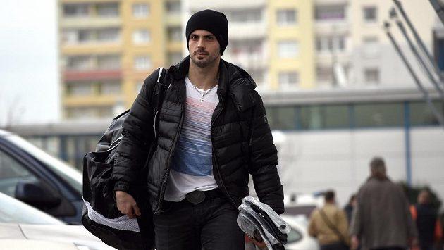 Český Hokejista Slovanu Bratislava Michal Řepík.