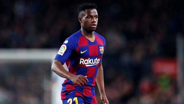 Ansu Fati coby vyrůstající hvězda Barcelony při nedávném utkání se San Sebastianem.