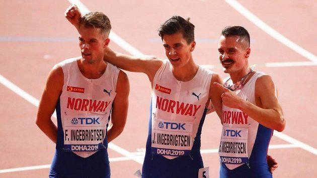 Na exhibičním atletickém mítinku v Oslu, který 11. června nahradí tradiční podnik Diamantové ligy, bude k vidění i unikátní týmový souboj elitních mílařů na nemistrovské distanci 2000 metrů. Zúčastní se ho domácí bratři Henrik, Filip a Jakob Ingebrigtsenové.