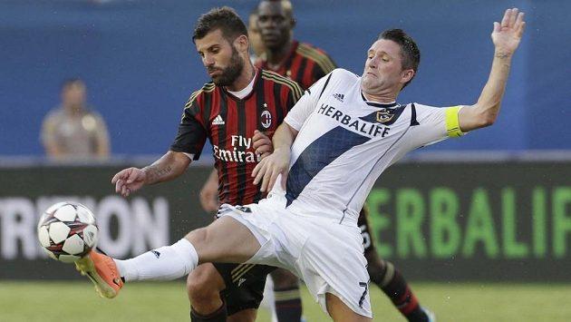 Útočník Robbie Keane (vpravo) se v zámořské MLS blýsknul hattrickem.