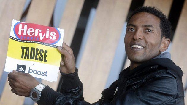 Světový rekordman a největší favorit nadcházejícího Pražského půlmaratónu Zersenay Tadese z Eritrey.