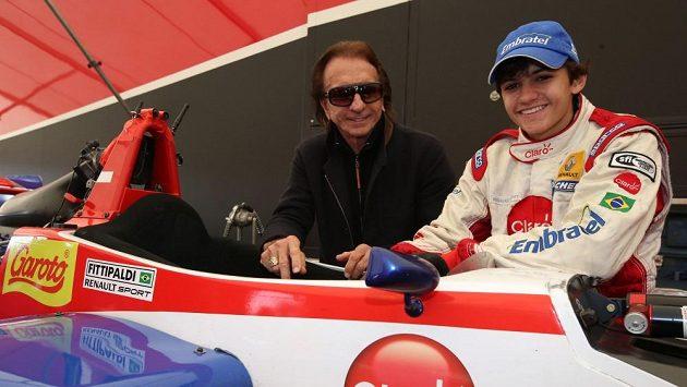 Emerson Fittipaldi s vnukem Pietrem.