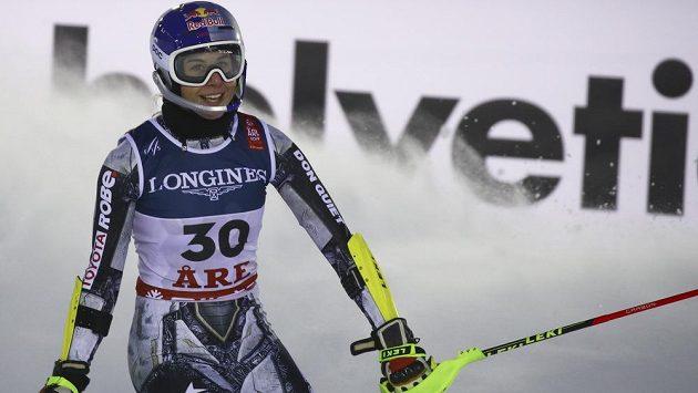 Ester Ledecká po kombinačním slalomu na MS v Aare.