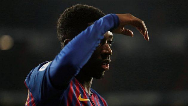 Ousmane Dembélé bude Barceloně chybět několik týdnů.