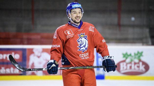 Jan Kovář na archivním snímku při tréninku hokejové reprezentace