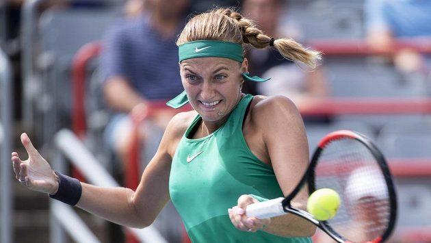 Česká tenistka Petra Kvitová během utkání druhého kola v Montrealu.
