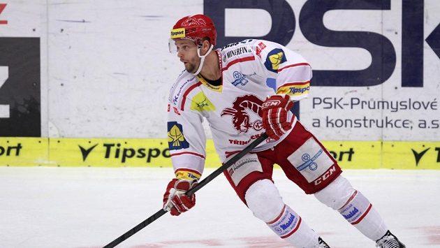 Hokejista Třince Martin Růžička.