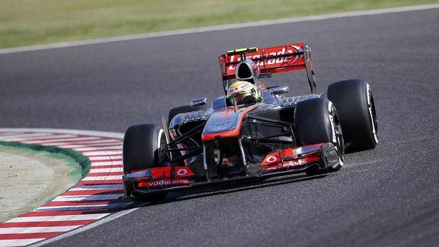 Perez v monopostu McLarenu.