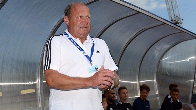 Znojemský trenér Leoš Kalvoda během utkání na Julisce.