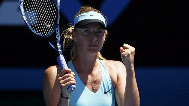 Radostné gesto ruské tenistky Marie Šarapovové.