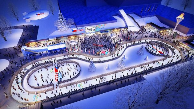 Vizualizace olympijského parku v Ostravě