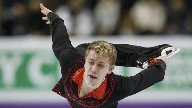 Michal Březina předvedl v krátkém programu solidní výkon.