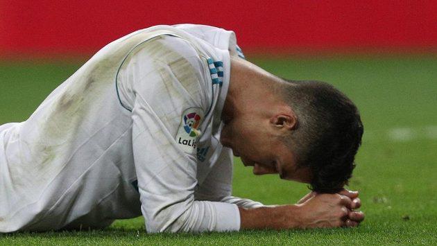 Cristiano Ronaldo při utkání Realu s Betisem.