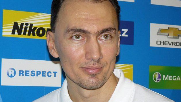 Miroslav Šatan na tiskové konferenci po návratu do Slovanu Bratislava.