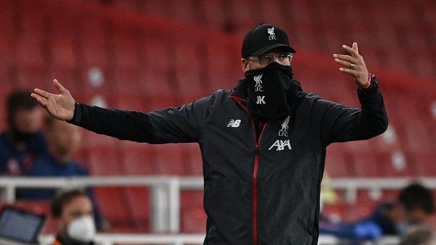 Manažer Liverpoolu Jürgen Klopp během utkání Premier League.