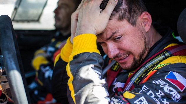 Martin Prokop v cíli Rallye Dakar 2016.
